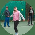 Reprise de l'école de tennis junior du Tennis Club d'Evian (TCE) le 4 novembre 2020