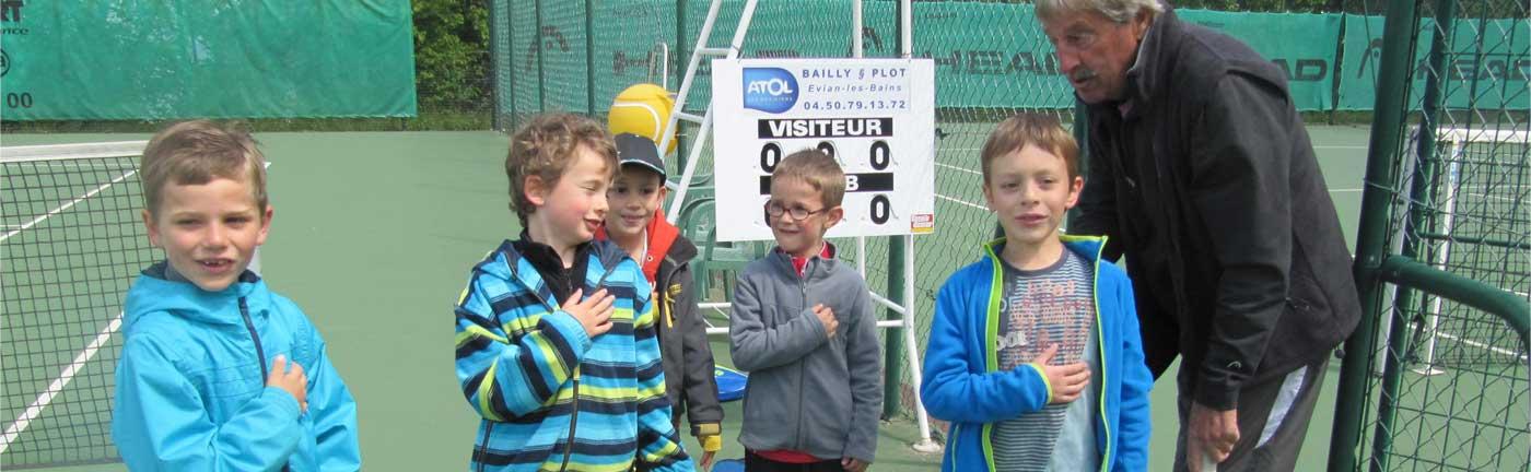 Entraînements juniors proposés par le Tennis Club d'Evian (TCE)