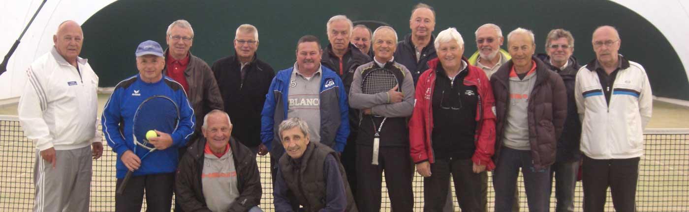 Equipe des plus de 65 ans au Tennis Club d'Evian (TCE)